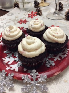 Peppermint and Chocolate Wonderland Cupcakes